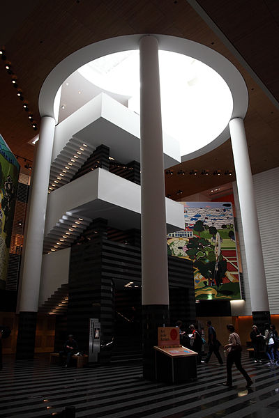 San Francisco Museum of Modern Art, interior staircase