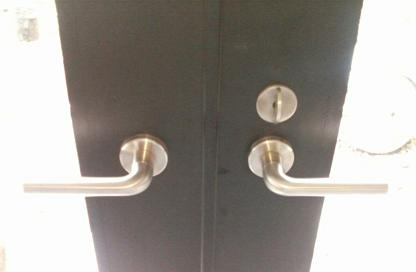 Schlage L handles on Bonelli doors