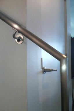 California Contract Co. handrail and Schlage L lock
