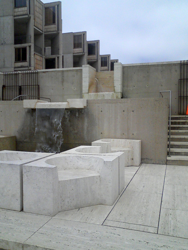 Salk Institute looking back and up