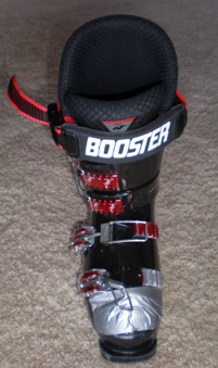Nordica Doberman with BOOSTER strap and duct tape